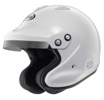 Arai GP-Jet 3 White Open Helmet Snell/FIA 8858 SA2015