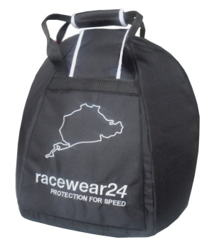 r24 Helmet Bag, black with Stick on the front
