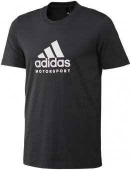 Adidas Motorsport T-Shirt schwarz / weiß L