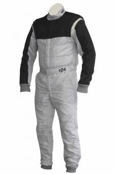 Racing Driver Overalls silver/black FIA
